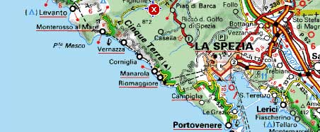 Cartina 5 Terre E Dintorni.Itinerari Cinque Terre Portovenere Escursioni Tours Guidati In Battello E Treno